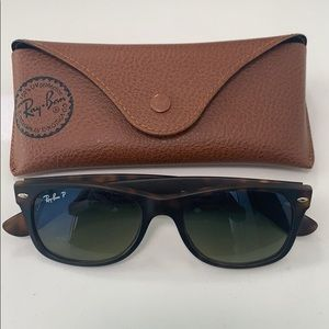 Ray-Ban Polarized New Wayfarer in tortoise.